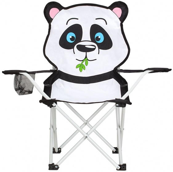 Abbey vouwstoel panda junior wit/zwart 60 x 34 x 66 cm