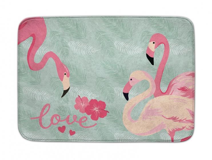 ACHOKA speelkleed flamingo Decomat 100 x 150 cm blauw/roze