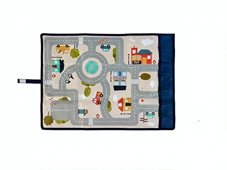 ACHOKA verkeerskleed Travel & Play 67 x 47 cm multicolor