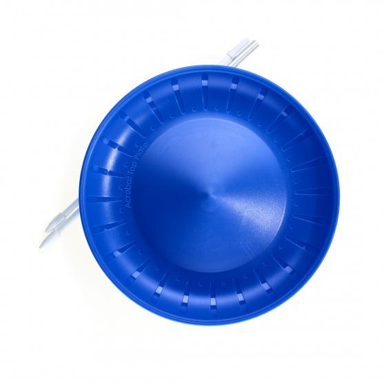 Acrobat balanceerbord met stok 23,5 cm blauw