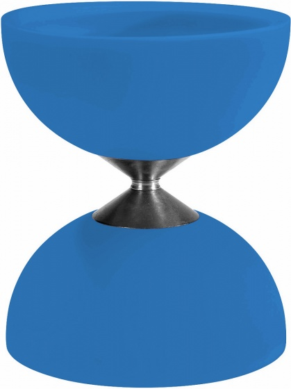 Acrobat diabolo 105 rubber 12 x 10,5 cm lichtblauw