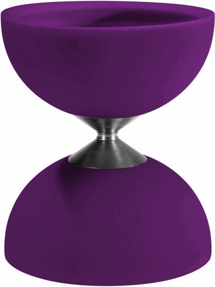 Acrobat diabolo 105 rubber 12 x 10,5 cm paars