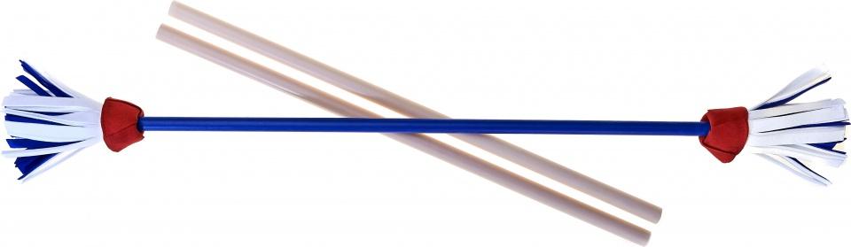 Acrobat jongleerstokken bloemen 75 cm blauw 3 delig