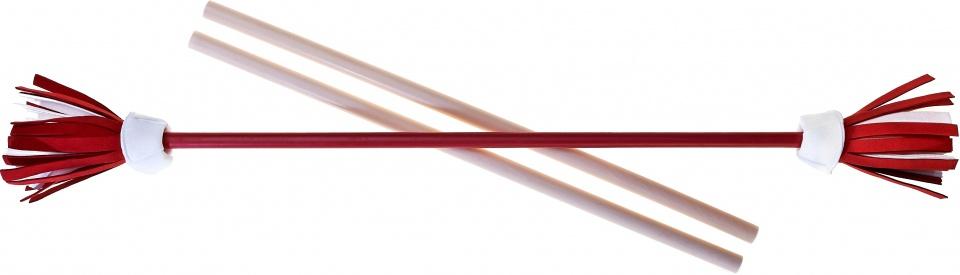 Acrobat jongleerstokken bloemen 75 cm rood 3 delig