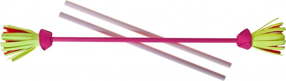 Acrobat jongleerstokken bloemen 75 cm roze 3 delig