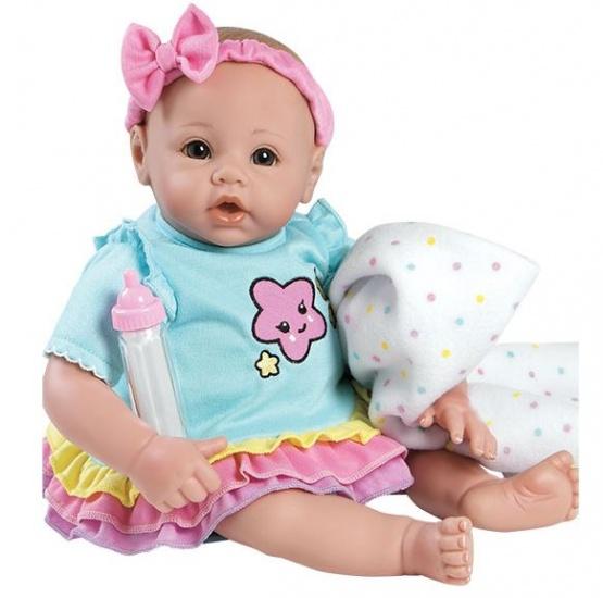 Adora BabyTime pop Rainbow 40 cm blauw / roze