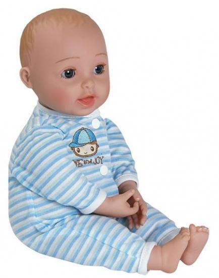 Adora GiggleTime babypop jongen 33 cm blauw