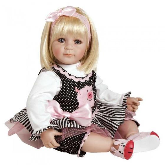 Adora Toddler Time Baby Oink roze/zwart meisjes 51 cm
