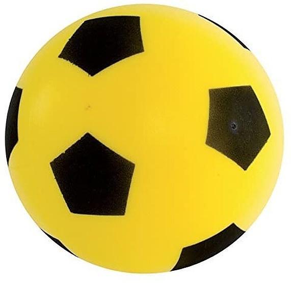Adriatic voetbal junior 20 cm schuimrubber geel/zwart