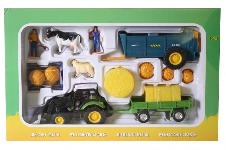 Agri Life Tractor Met Aanhanger Hooi