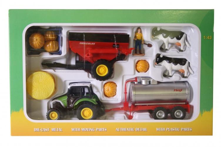 Agri Life Tractor Met Aanhanger Silo