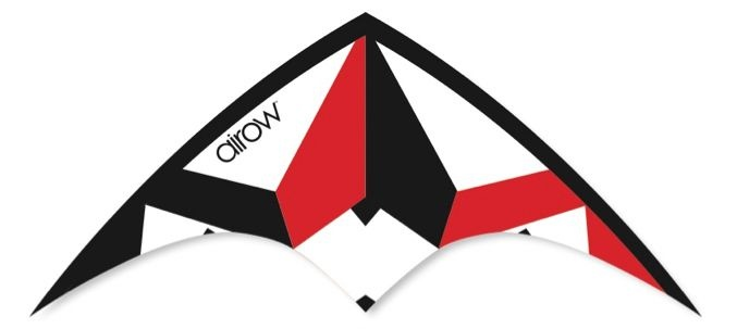 Airow Stuntvlieger Tornado 115 x 50 cm rood/wit/zwart