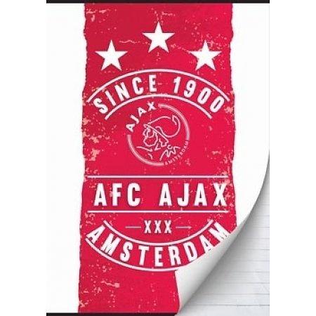 Ajax Schrift rood/wit since 1900 A4 geruit