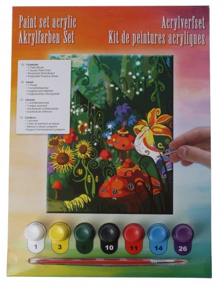Amigo acrylverfset bloemen 10 delig