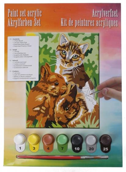 Amigo acrylverfset dieren 10 delig