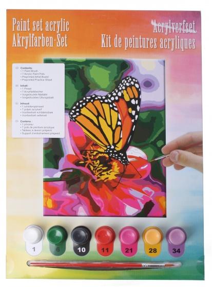 Amigo acrylverfset vlinder 10 delig