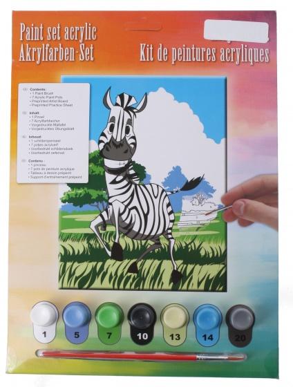 Amigo acrylverfset zebra 10 delig