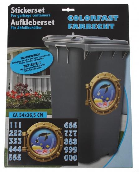 Amigo afvalcontainerstickers duikboot 31 delig