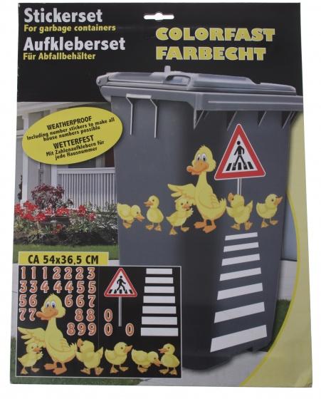Amigo afvalcontainerstickers eenden 29 delig