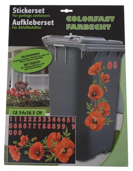 Amigo afvalcontainerstickers rozen 31 delig
