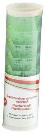 Amigo Badminton shuttles kunststof 6 stuks groen
