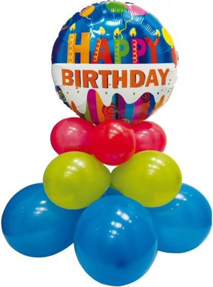 Pegaso ballonnen set happy birthday 75 cm