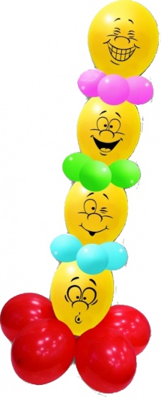 Pegaso ballonnen met gezichten 180 cm