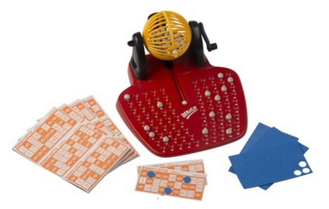 Amigo Bingospel 142 delig geel/rood
