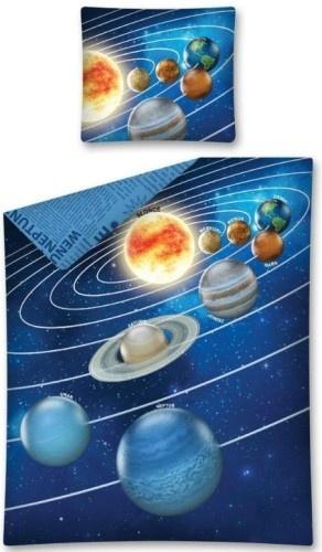 Amigo dekbedovertrek Cosmos 140 x 200 cm blauw
