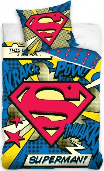 Amigo Dekbedovertrek Superman 140 x 200 cm blauw