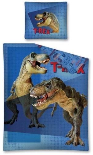 Amigo dekbedovertrek T Rex 140 x 200 cm blauw