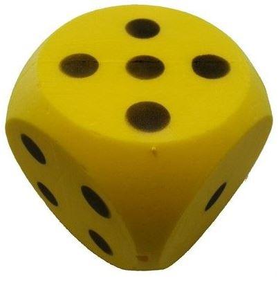Amigo Dobbelsteen zacht 15 cm geel