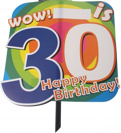 Amigo feestbord 30 jaar 48 x 38 cm