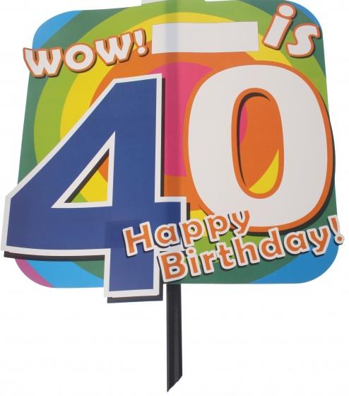 Amigo feestbord 40 jaar 48 x 38 cm
