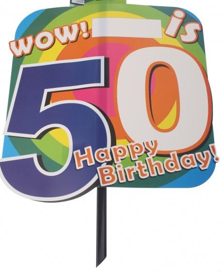 Amigo feestbord 50 jaar 48 x 38 cm