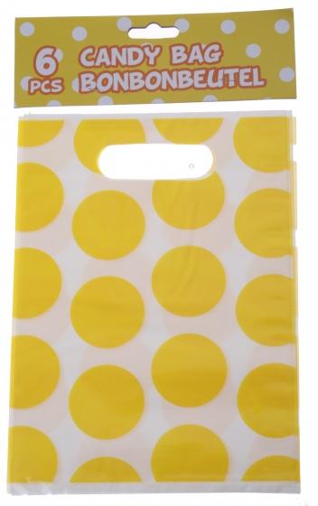 Amigo feestzakjes geel 23 x 17 cm 6 stuks