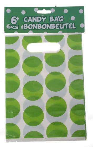Amigo feestzakjes groen 23 x 17 cm 6 stuks