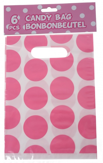 Amigo feestzakjes roze 23 x 17 cm 6 stuks