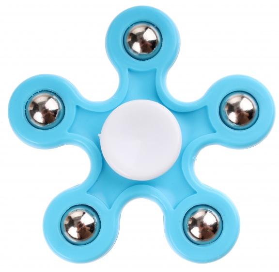 TOM Fidget Spinner blauw 5 poten