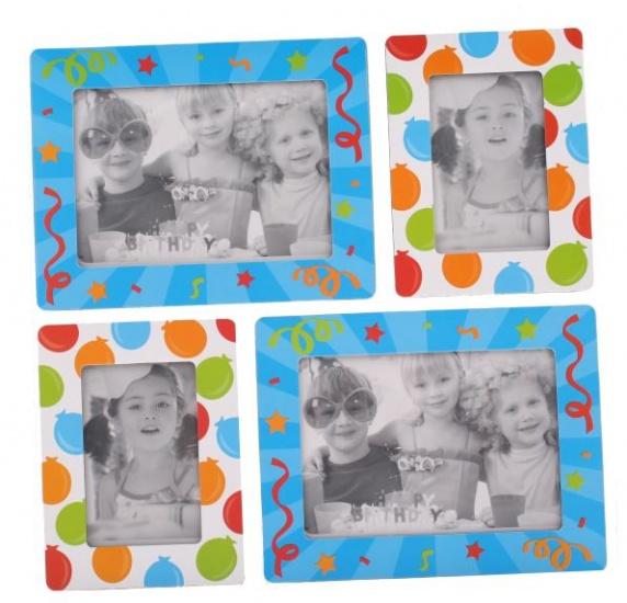 Amigo Fotolijstjes stickers ballonnen blauw
