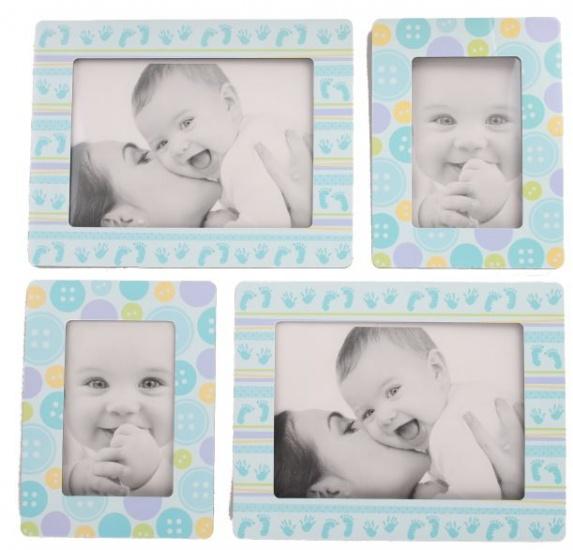 Amigo Fotolijstjes stickers Knopen blauw