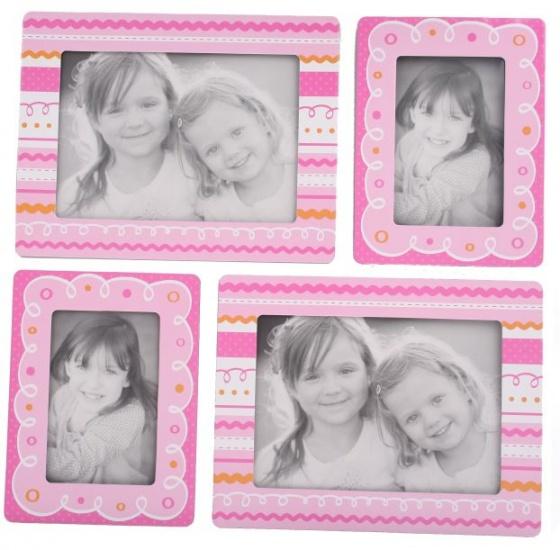 Amigo Fotolijstjes stickers Streep roze