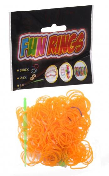 Amigo Fun Rings armband vlechten lichtoranje 325 delig