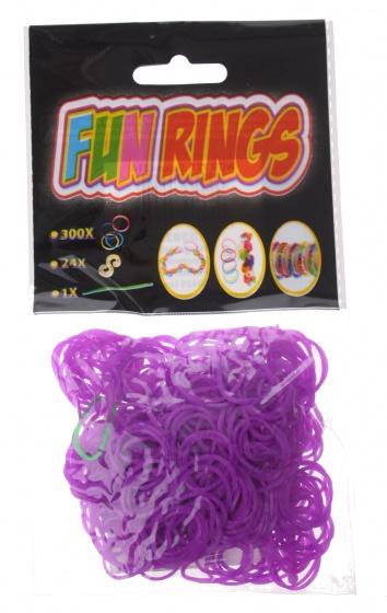 Amigo Fun Rings armband vlechten paars 325 delig