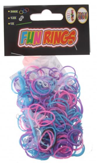Amigo Fun Rings armband vlechten paars/blauw 313 delig
