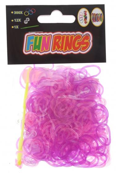 Amigo Fun Rings armband vlechten paars-roze 313 delig