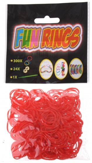 Amigo Fun Rings armband vlechten rood 325 delig