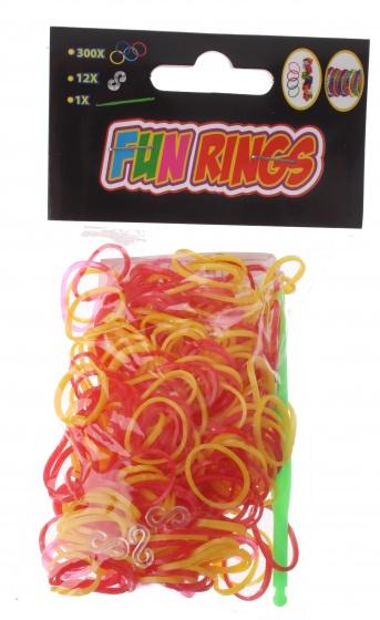 Amigo Fun Rings armband vlechten rood/geel 313 delig
