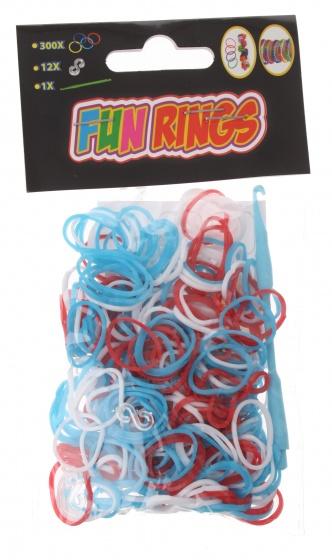 Amigo Fun Rings armband vlechten rood-wit-blauw 313 delig