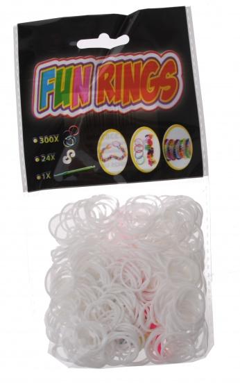 Amigo Fun Rings armband vlechten wit 325 delig